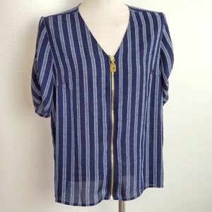 Michael Kors navy stripe top